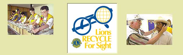 Lions Recycle Eyeglasses